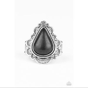 "Silver Black ""Desert Escape"" Ring"